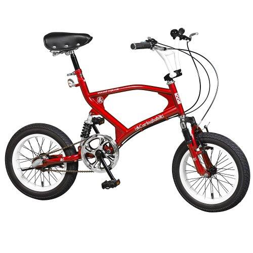 【a.n.design works】(エーエヌデザインワークス) CB163BB メタリックレッド 16インチ クルーザー 440mm 小径自転車 ミニベロ スポーツ バイク BMX ストリート 3段変速