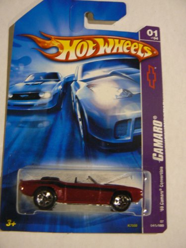 Hot Wheels Camaro 01 of 04 '69 Camaro Convertible Red 041/180 - 1