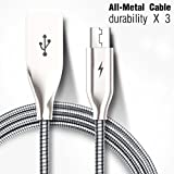 Micro USB Cable, Yaletu 3. 3ft/1m All-Metal Android Charger Cables For Smartphones Samsung Galaxy, Nexus, LG,...
