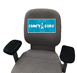 Elbow Cushion Chair Arm Covers With Ergonomic Memory Foam (2 per pack). Perfect Combo For Any Chair That Has Arm Rests. Transforms Your Chair Arms Into Super Comfy Elbow Cushions.