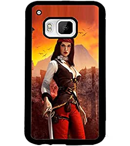 ColourCraft The Warrior Girl Design Back Case Cover for HTC ONE M9
