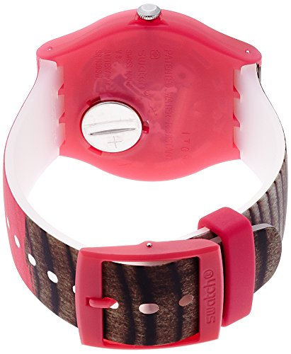 Swatch Women's SUOP703 Pink/Brown Silicone Watch 1
