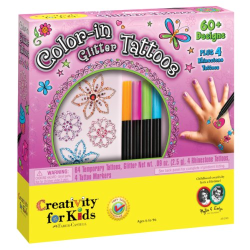 Color-in Glitter Tattoos (Tattoo Kit For Kids compare prices)