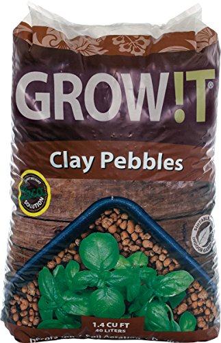 GROW!T GMC40l Clay Pebbles 40 Liter Bag 4mm-16mm
