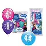 Pioneer National Latex Disney Frozen 6 Balloons/4 Punch Balls, Assorted
