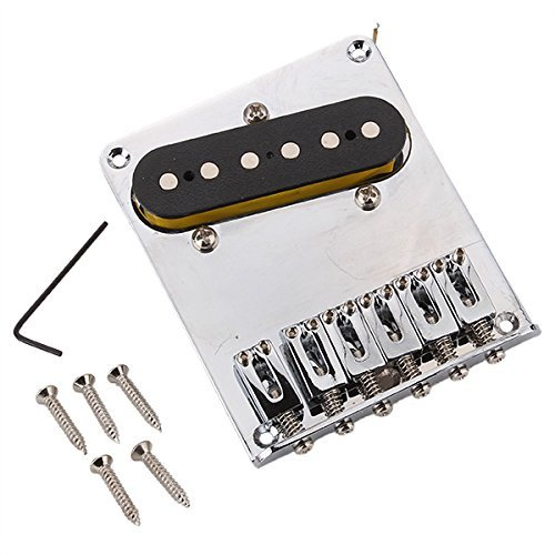 Vati Chrome Bridge With Pickup For Electric Guitar 6 String Space 10.5Mm