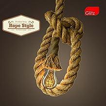 Edison Lamp Rope Hanging/pendant Vintage Industrial Loft, E27 Holder, Decorative, Urban Retro Style, Baze Color.