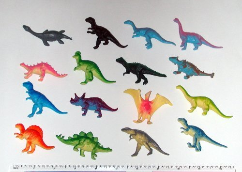 "~ 12 ~ Mini Dinosaur Figures ~ Hard Plastic- 2""-3""~ NEW - 1"