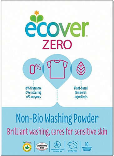 (12 PACK) - Ecover Zero Washing Powder | 750g | 12 PACK - SUPER SAVER - SAVE MONEY