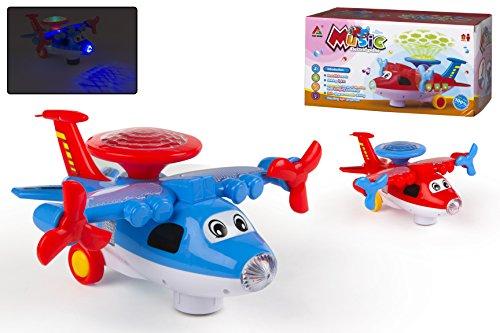 Color Baby - Avión musical con luces, 27 X 12 X 14 cm (42346)