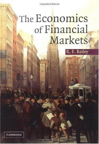 The economics of financial markets