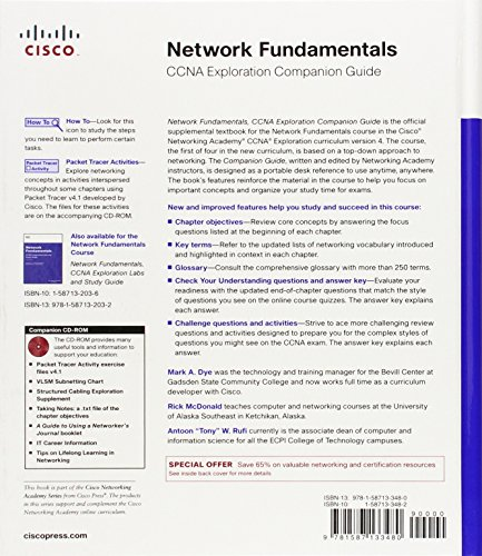 Network fundamentals ccna exploration labs and study guide