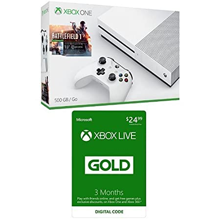 Xbox One S 500GB Battlefield Bundle + 3-month Xbox Live Card