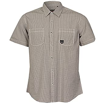 Mens Duck and Cover Hansel Short Sleeve Shirt in Grey - M