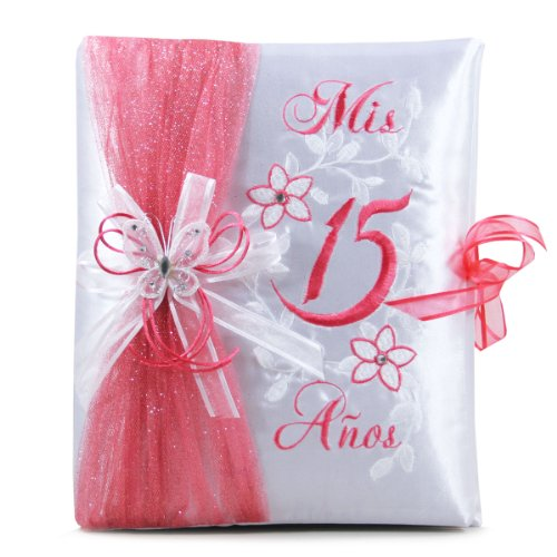 Select Your Choice of Quinceanera Guest Book Photo Album Kneeling Tiara Pillow Bible Q3031 (Photo album)