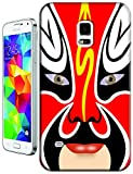 Chinese Cute Facial Makeup for Samsung Galaxy S5 Cell Phone Cover Case (Red White)