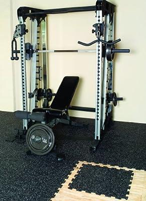TrueLock Rubber Flooring 8mm Rubber Floor Tile 9 Pack 23inx23In. Gym - Fitness