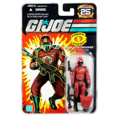 "G.I. JOE Hasbro 25th Anniversary 3 3/4"" Wave 5 Action Figure Crimson Guard - 1"