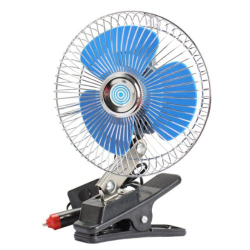 Tinksky 6-Inch Dc12V Vehicle Car Oscillating Electric Cooling Fan With Clip (Sky-Blue)