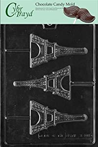 Cybrtrayd M155 Eiffel Tower Chocolate Candy Mold with Exclusive Cybrtrayd Copyrighted Chocolate Molding Instructions