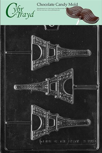 Review Cybrtrayd M155 Eiffel Tower Chocolate Candy Mold with Exclusive Cybrtrayd Copyrighted Chocola...