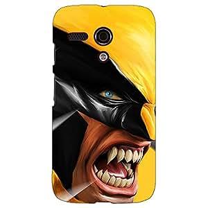 Jugaaduu Wolverine Hugh Jackman Back Cover Case For Moto G (1st Gen)