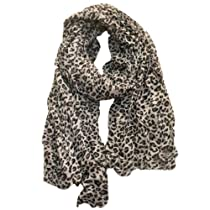 JousJous Handmade Animal Print Leopard Soft Crinkle Scarf in Multiple Colors