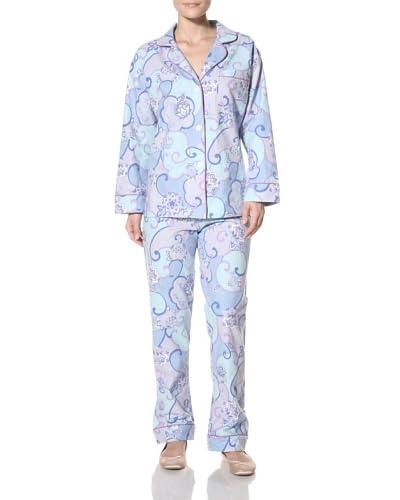 BedHead Women's Abbey Flannel Pajama Set  [Blueberry]