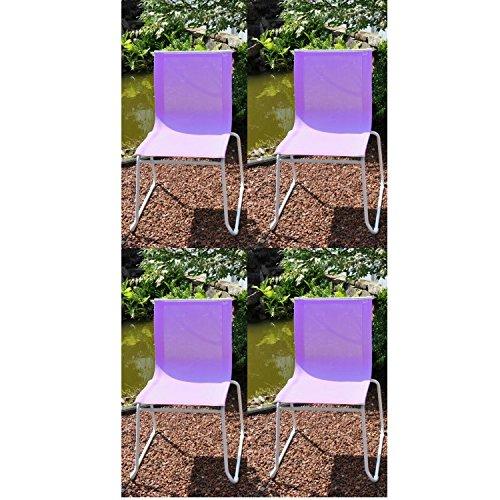 4x Leco Trendmöbel Colorline Stapelstuhl Gartenstuhl Stuhl Garten flieder