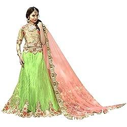 Triveni Net Lehenga Choli (TSSATGL5312_Green)