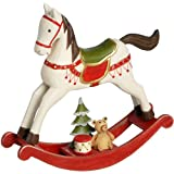 Home WorkS Christmas Tree Wall Hangings - Xmas - 14031 - Wooden Cream Rocking Horse