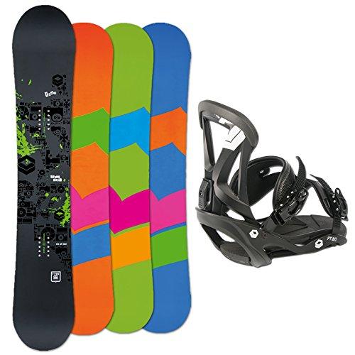 FTWO SET Snowboard BLACKDECK 152cm 2015 + FTWO Bindung Sonic black Gr. M