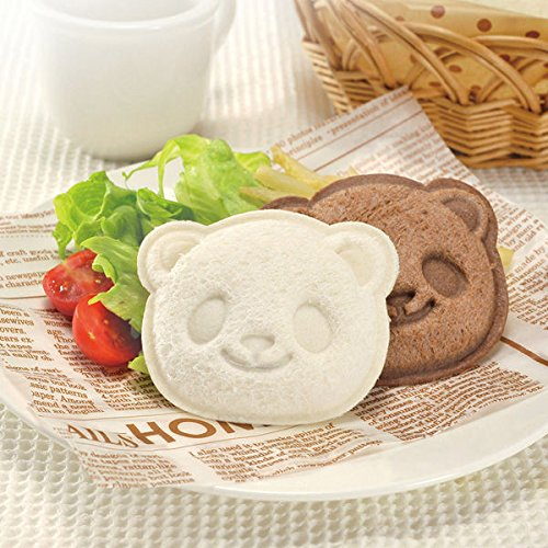 Micropromo® High Quality Cute Panda Bear Shape Bread Mold, Sandwich Cutter, Food Decoration, Toast Cookie Stamp, DIY Hand Tools for Kids Boys Girls Toddler