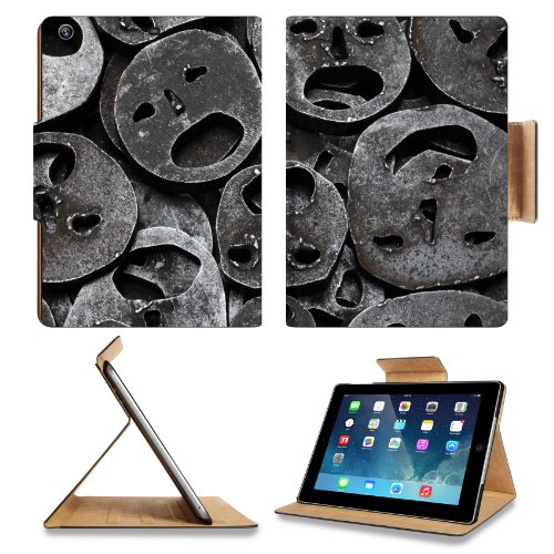Metal Mask Iron Cut Out Apple Ipad Air Retina Display 5Th Flip Case Stand Smart Magnetic Cover Open Ports Customized Made To Order Support Ready Premium Deluxe Pu Leather 9 7/16 Inch (240Mm) X 7 5/16 Inch (185Mm) X 5/8 Inch (17Mm) Luxlady Ipad Professiona front-641231