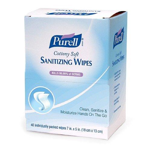 Purell Cottony Soft Sanitizing Wipes 40 Ea