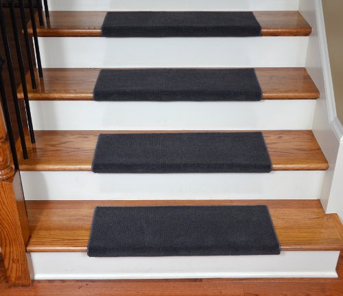 ^& Affordable Dean Premium Bullnose Carpet Stair Treads Odette Pointe Yarrow Plus Installation ...