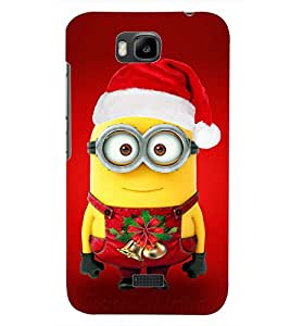 PrintDhaba FATTY CHRISTMAS D-7089 Back Case Cover for HUAWEI HONOR BEE (Multi-Coloured)