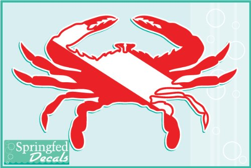 CRAB Dive Flag #1 Vinyl Decals 2