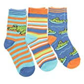 Boys/Kids Patterned Cotton Rich Casual Socks (Pack of 3)