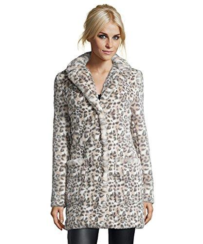 Catherine Catherine Malandrino Women's Faux Fur Leopard Coat