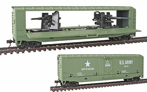 Spur-H0-Model-Power-US-Army-Kanonenwagen