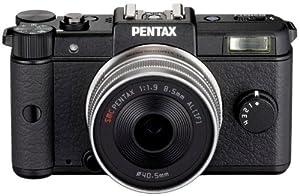 Sistema Q de cámara Pentax (12 megapíxeles, 7,5 cm (3 pulgadas) de pantalla, vídeo de alta definición de imagen estabilizada) kit de lentes de 47mm incluyendo negro