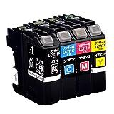 【Amazon.co.jp限定】ブラザー LC111-4PK 4色セット対応 ジットリサイクルインク JIT-NB1114P(FFP・封筒パッケージ)