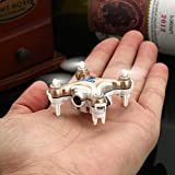 oneCase Cheerson CX-10W 4CH 2.4GHz iOS / Android APP Wifi Romote Control RC FPV Real Time Video Mini Quadcopter Helicopter Drone UFO with 0.3MP HD Camera, 6 Axis Gyro - Gold