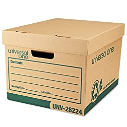 UNV28224 - Universal Recycled Record Storage Box