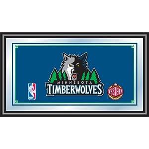 NBA Minnesota Timberwolves Logo Framed Mirror by Trademark Global