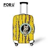[FOR U DESIGNS]個性的な柄 伸縮素材 Spandex  スーツケース ラゲッジカバー luggage cover 旅行カバンカバー トランクカバー Sサイズ ネコ6
