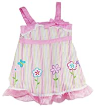 Sweet & Soft Toddler Girls 2-4T Pink Striped Gingham Flowers Summer Dress
