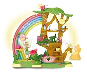 Disney fairies tinkerbell pixie power playset for Arbre maison jouet