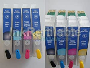 Refillable ink cartridge T0681~4 68 Epson Stylus CX5000 CX6000 CX7000F CX8400 CX9400F CX9475F C120 inkjet printer fax AIO